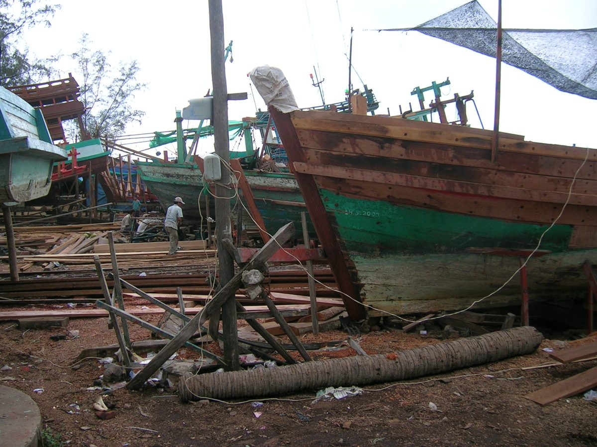 A yard where fishing boats were built